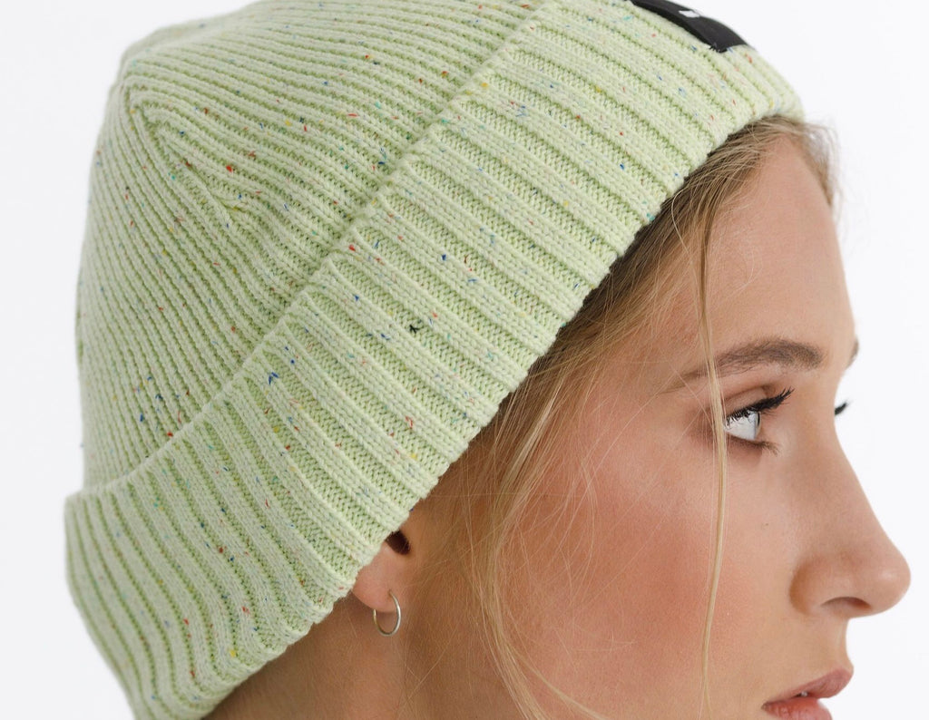 Speckle Beanie // Lime