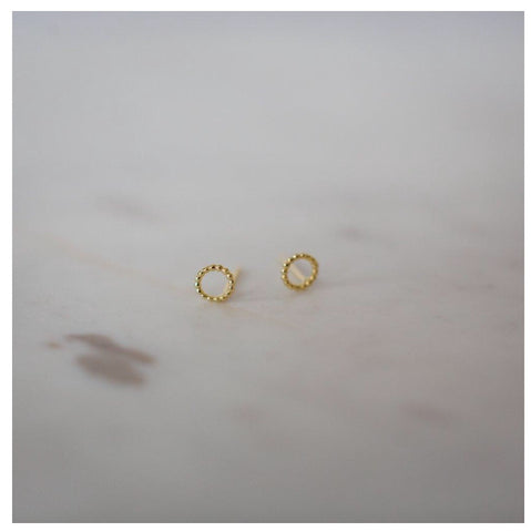 Dotty Oh Stud Earrings - Gold