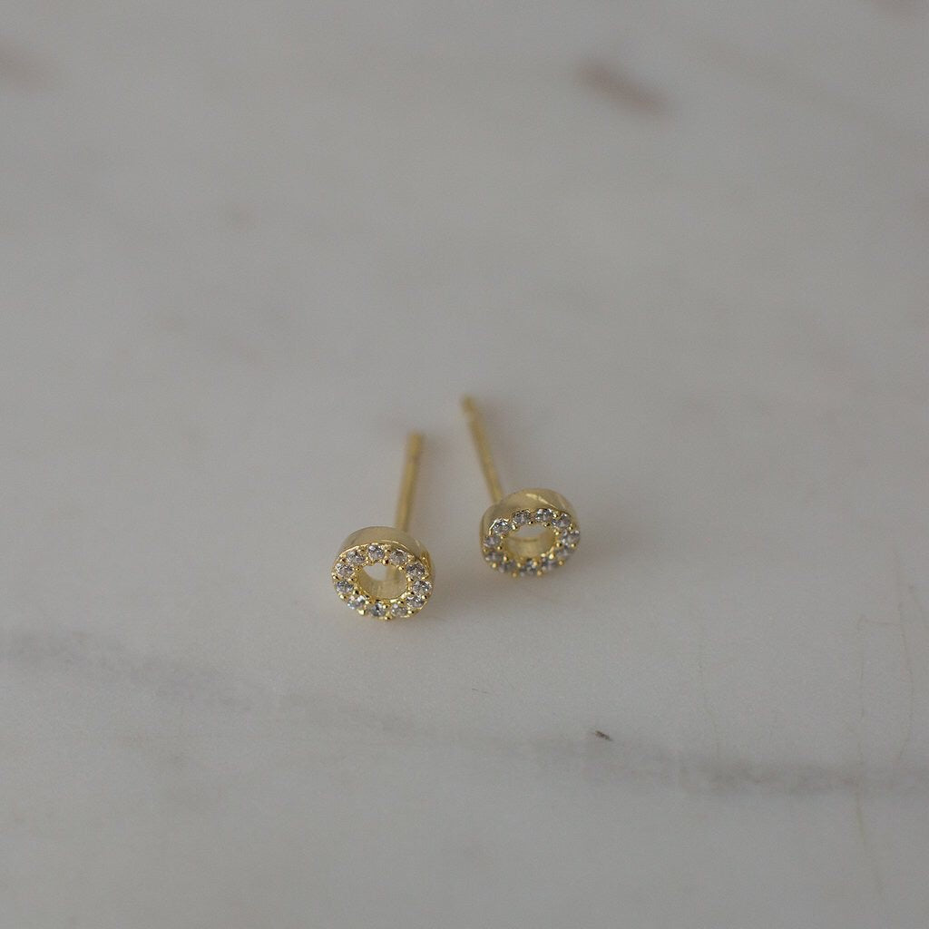 Sparkle Oh Studs - Gold