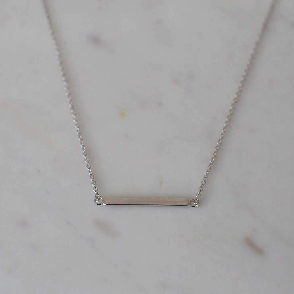 Mini Bar Necklace - Silver
