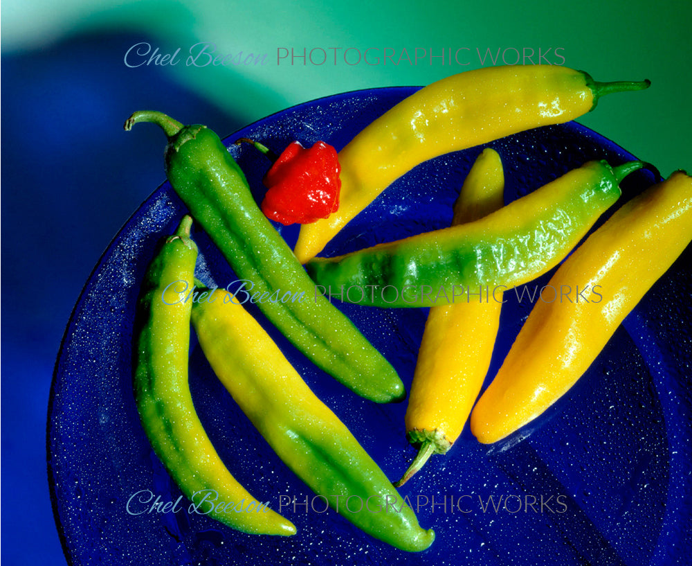 Banana Peppers On Plate