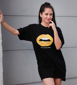 Golden Lips Tall T-Shirt