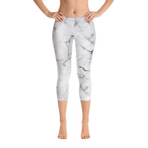 Marble Capri Leggings