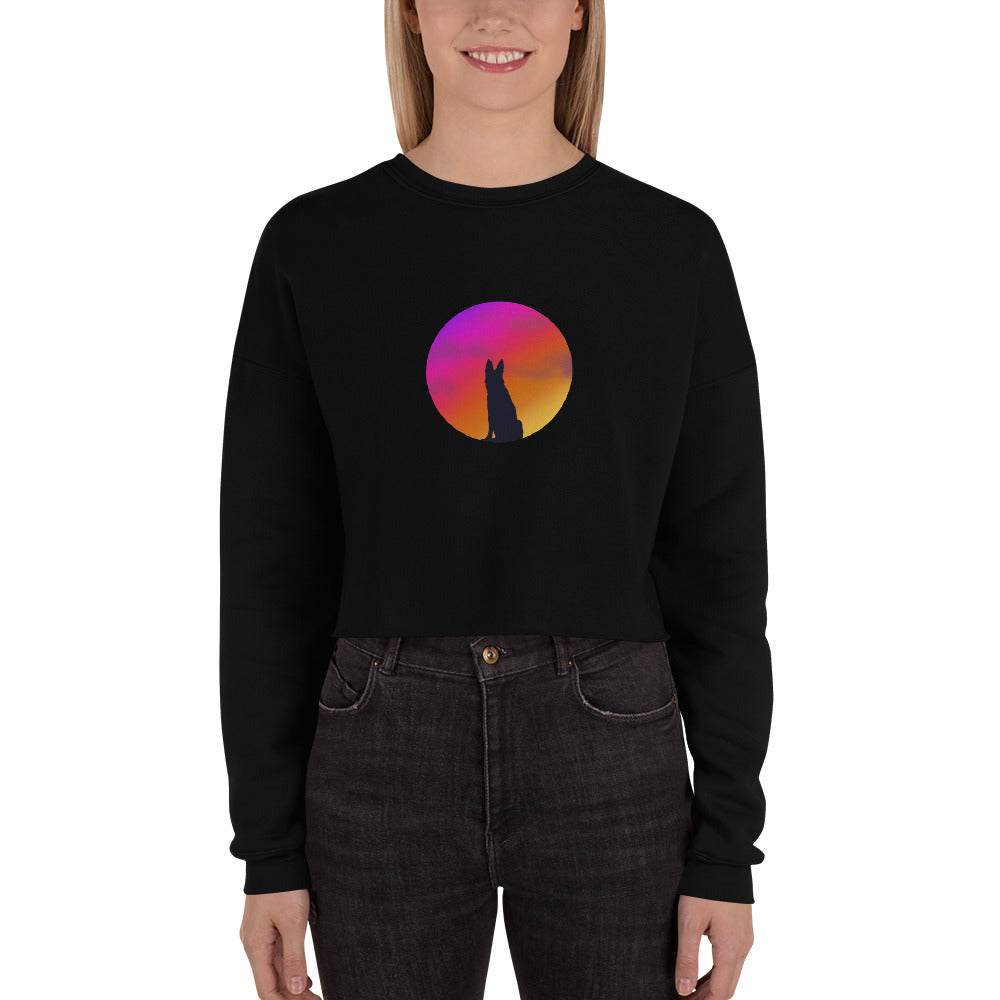 Sunset Doggy Crop Sweatshirt