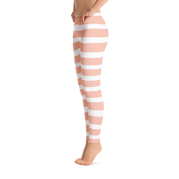 Peach Stipes Leggings