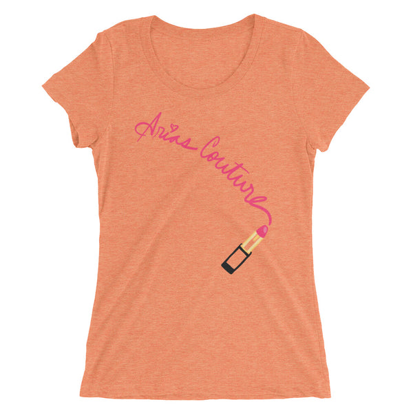 Lipstick Handwritten Fitted T-shirt