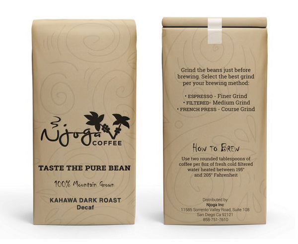 Kahawa Dark Roast Coffee Decaf (1lb Decaf Coffee)