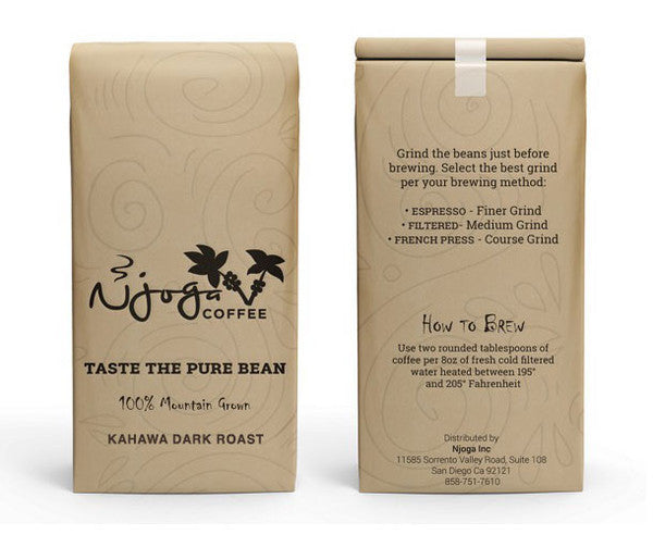 Kahawa Dark Roast (12oz whole bean)
