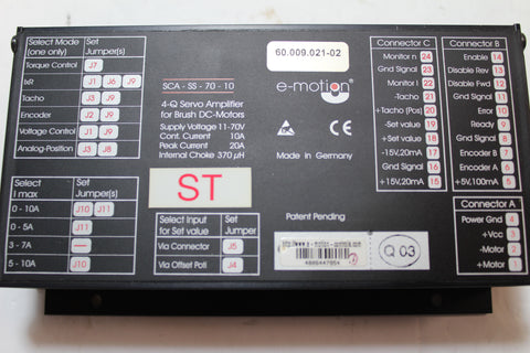 E-Motion SCA-SS-70-10  4-Q Servo Amplifier