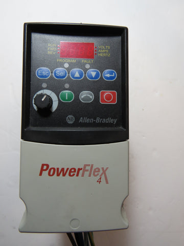 A-B PowerFlex 4 Cat. # 22A-B4P5N104 Ser. A  w/ 22-RF9P5-AS