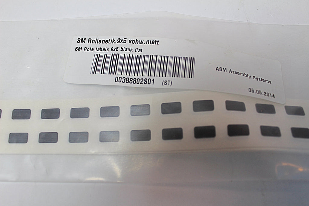 Siemens SM Role Labels 9x5 Black Flat
