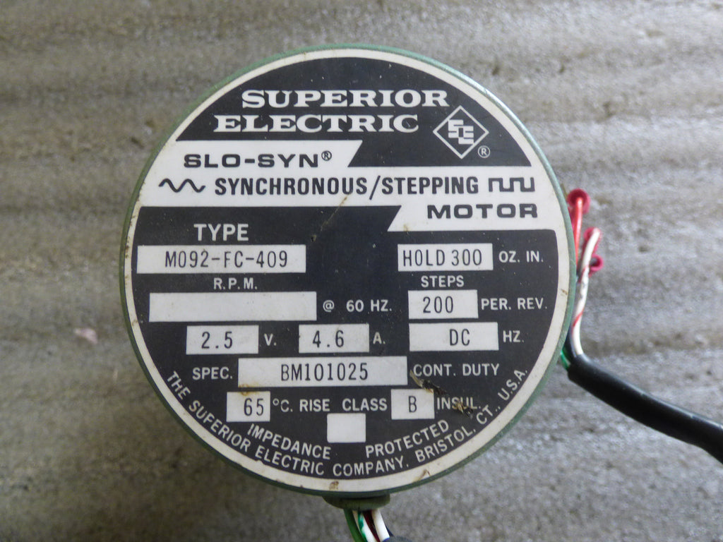 M092-FC-409 - Superior Electric  parts (786) 681-7852 / www.pfipartsus.com