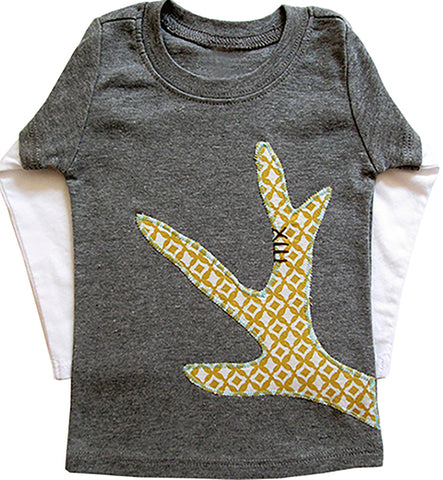 little bean double slv tee : antler