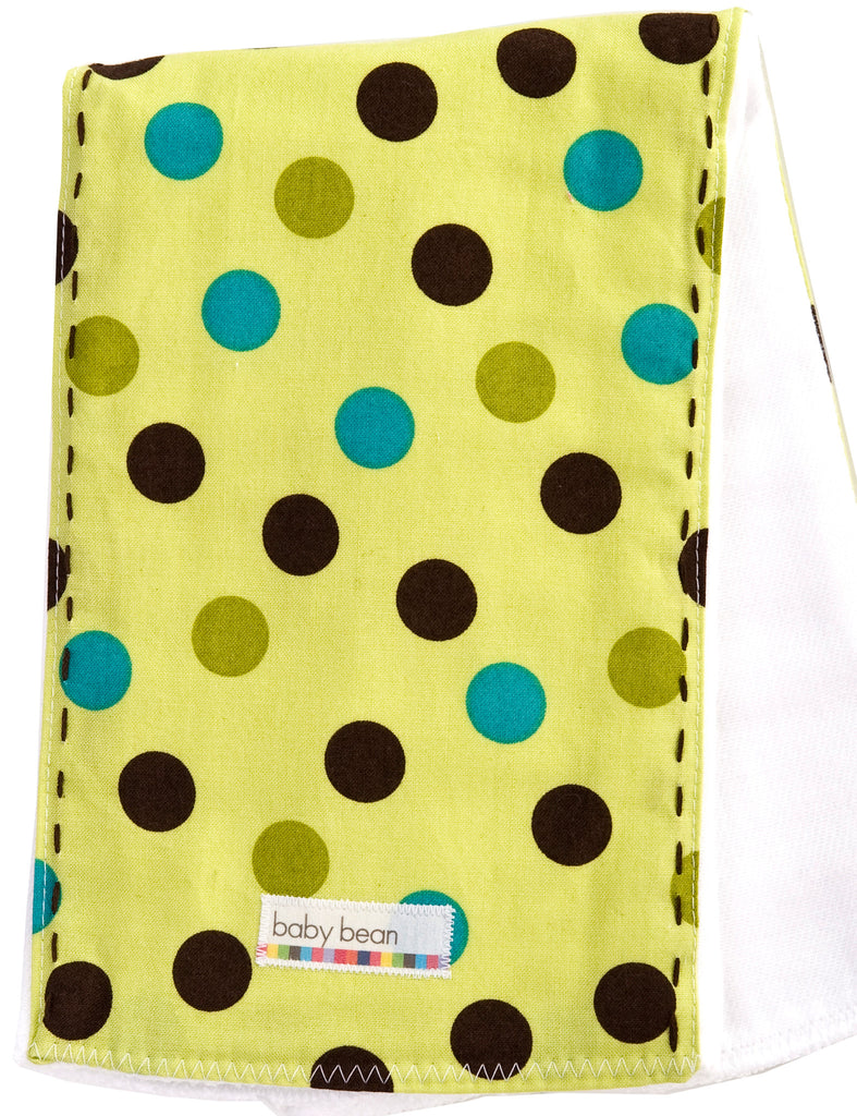 burp cloth : green dot