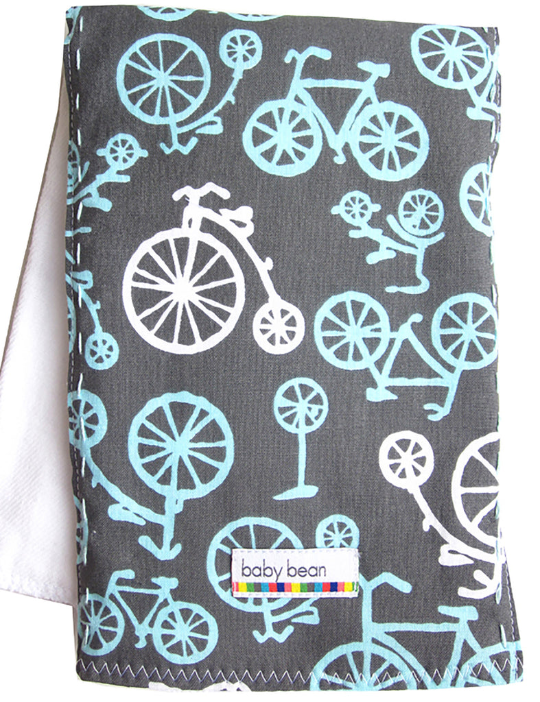 burp cloth : aqua bikes