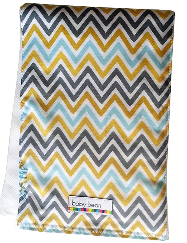 burp cloth : chevron stripe