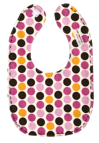bib : brown dot
