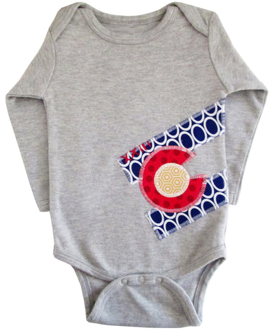 bodysuit : CO Flag oval L grey