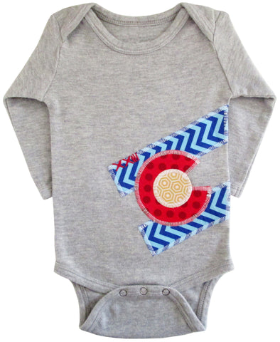 bodysuit : CO Flag chevron L grey