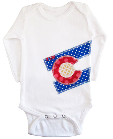 bodysuit : CO Flag dot L wht