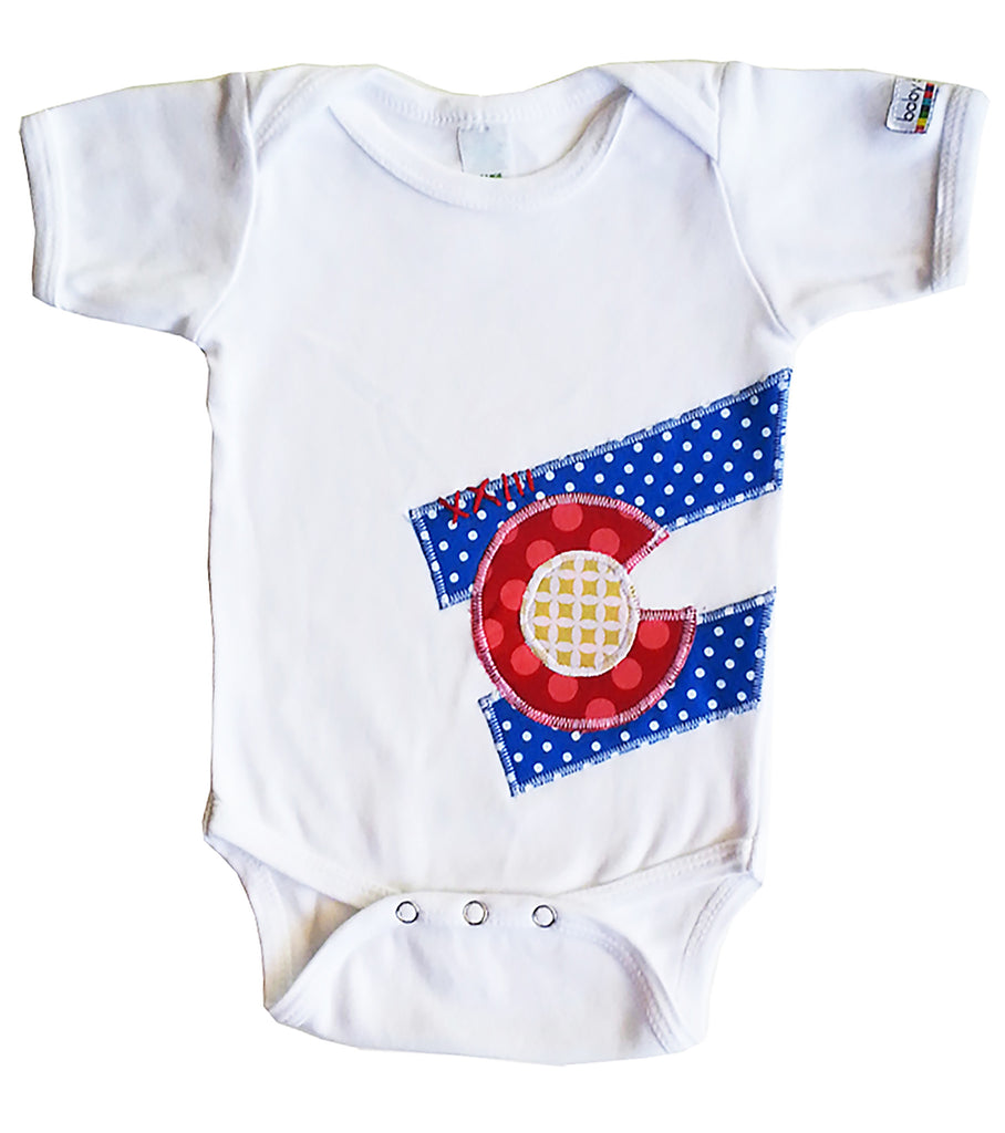 bodysuit : CO Flag dot S wht
