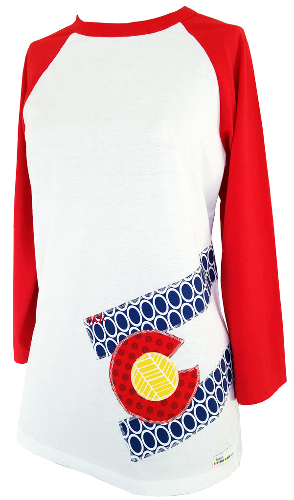 bean {for women} : CO Flag oval red raglan