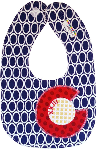 appliqued bib : CO Flag oval