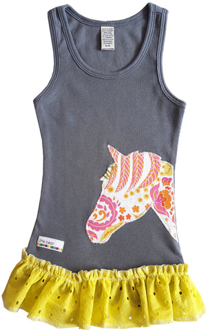 little bean tank : horse grey