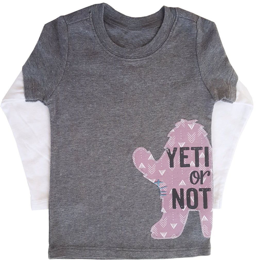little bean double slv tee : yeti
