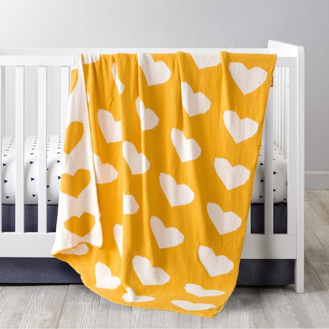 YELLOW HEART BLANKET