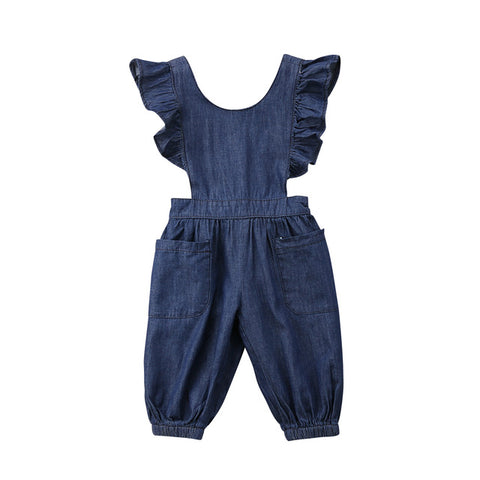 DENIM-LOOK OVERALLS