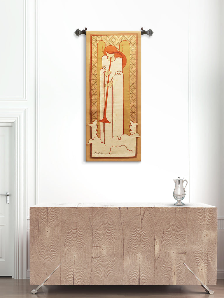 Mullan Angel with Horn Printed Tapestry