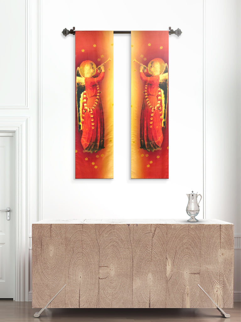 Pair of Printed Angel banners