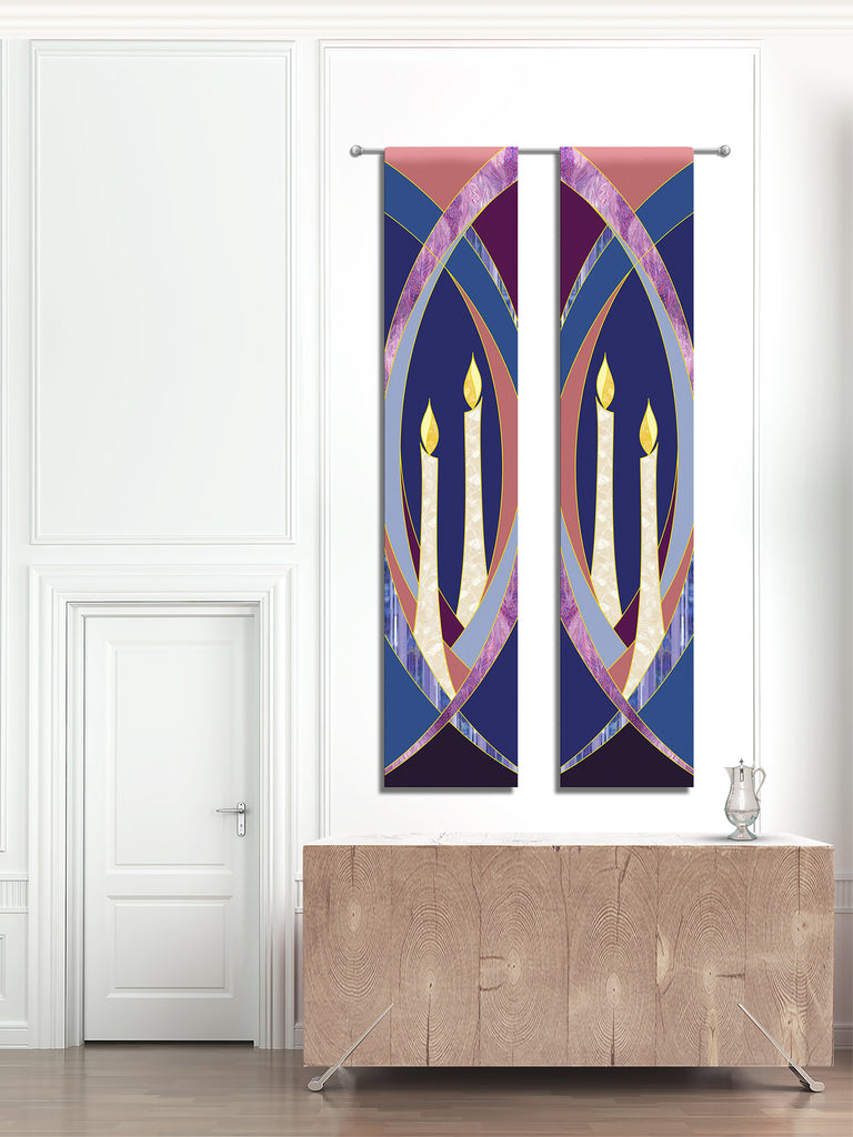 Printed Advent Candle Banners