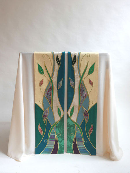 foliage ordinary time altar scarves