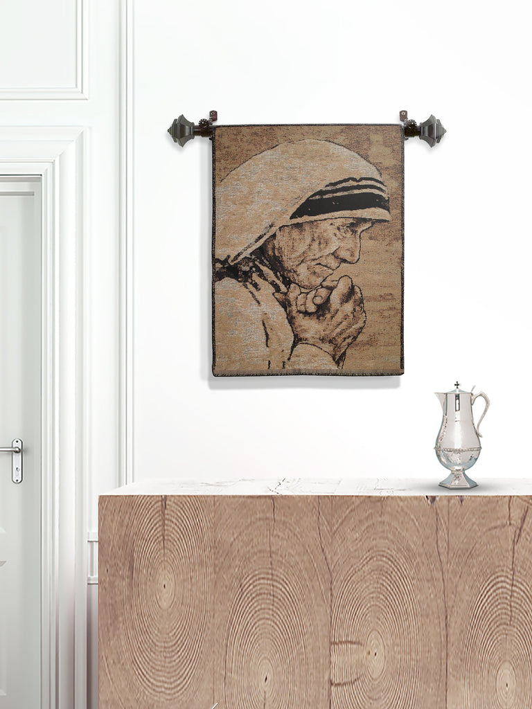 Mother Teresa Woven Tapestry