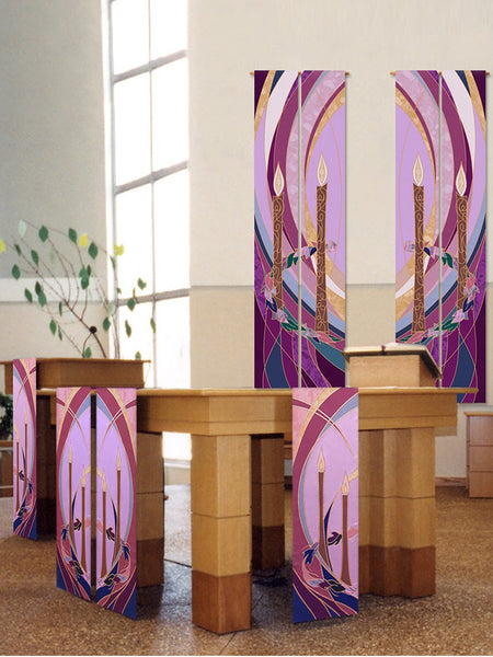 Advent Wall Hangings and Altar Scarves