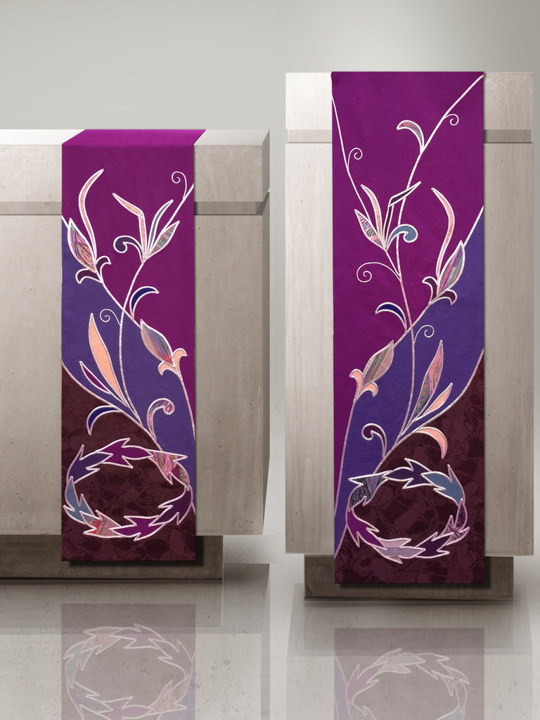Advent Sample altar scarf & lectern hanging set