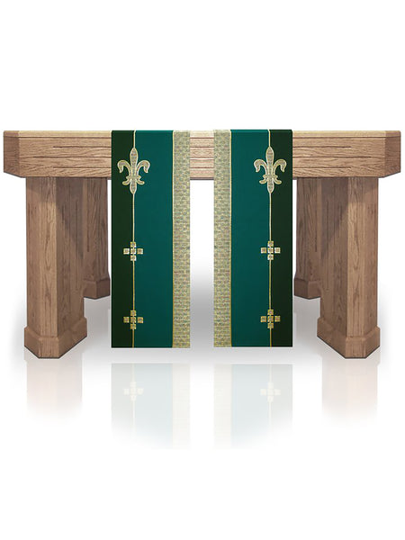 Fleur de lis Ordinary Time Altar Scarves