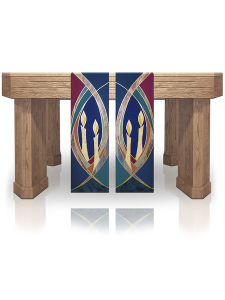 Advent Candle Sarum Blue Altar Scarves (B)