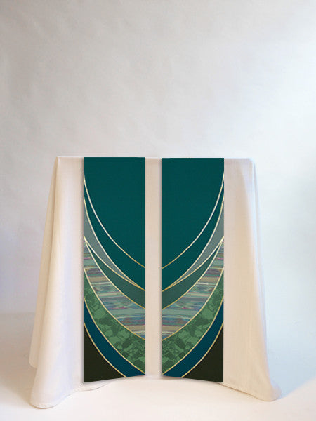 ordinary time green altar scarves