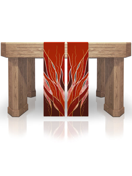 Pentecost Flames Red Altar Scarves (B)