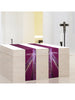 Stained Glass Cross Purple Altar Scarves