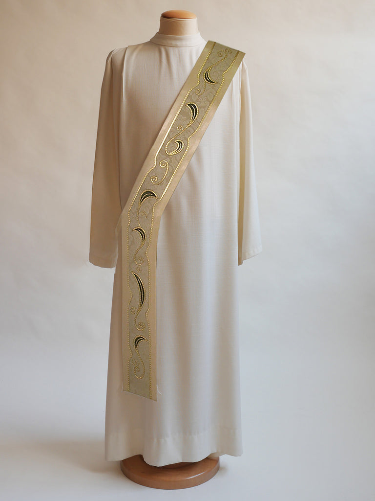 art nouveau easter christmas stole