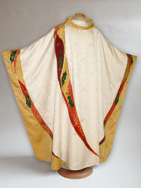 Curvilinear Holly Chasuble