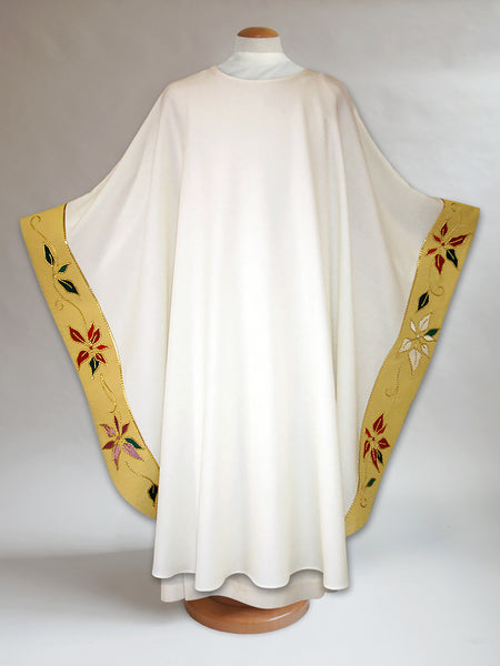 Peripheral Band Poinsettia Christmas Chasuble