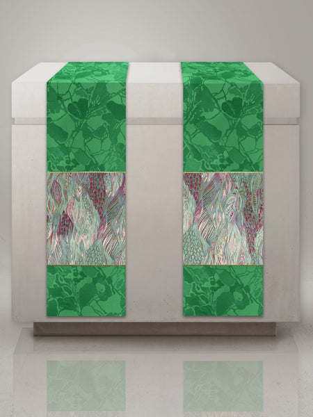 The Francis Bella & Monet Green Altar Scarves