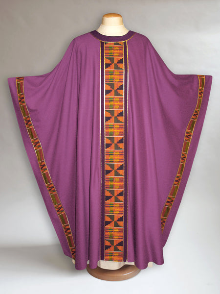 Classic Kente Chasuble in Purple