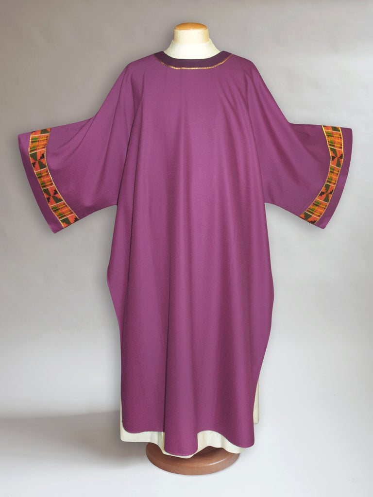 Classic Kente Dalmatic in Purple