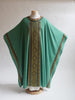 ordinary time classic 3 brocade green chasuble